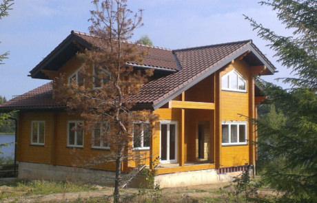 Комплекс деревянных домов из клееного бруса на Валдае